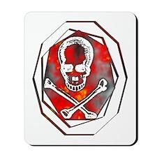 Smoke & Flames Skull Mousepad