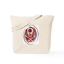 Smoke & Flames Skull Tote Bag