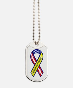 Support Our Troops Ribbon Transparent.png Dog Tags