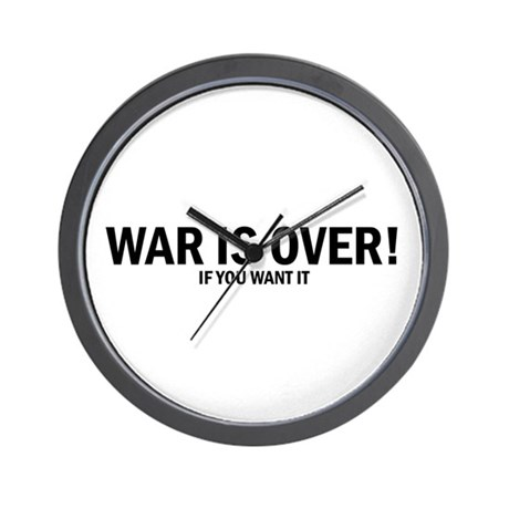 WAR IS OVER! Wall Clock