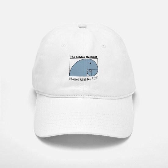 Fibonacci Spiral - Golden Elephant Baseball Baseball Cap