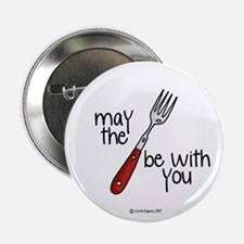 may the fork be with you Button
