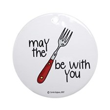 may the fork be with you Ornament (Round)