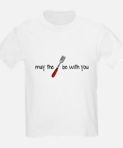 may the fork be with you Kids T-Shirt