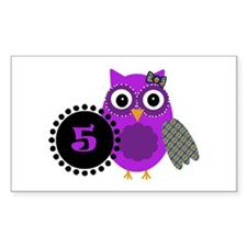5 Years Old Adorable Owl Decal