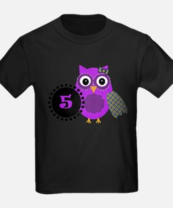 5 Years Old Adorable Owl T-Shirt