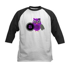 5 Years Old Adorable Owl Baseball Jersey