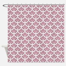 Lavender Circle Pattern Shower Curtain