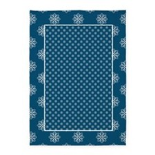 Blue | White Snowflakes 5'x7'Area Rug
