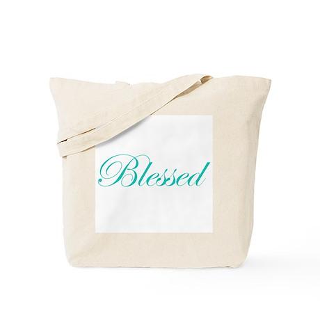 Aqua Blessed Tote Bag