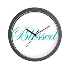 Aqua Blessed Wall Clock