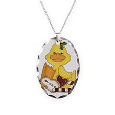 christmas duck with cookies Necklace