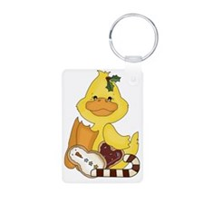 christmas duck with cookie Keychains