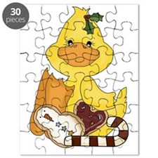 christmas duck with cookies Puzzle