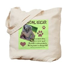 Animal Rescuer Weimeraner Tote Bag
