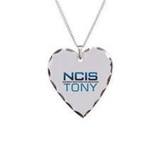 NCIS Logo Tony Necklace Heart Charm