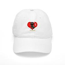 Havanese Valentine Woof Ebony Baseball Cap