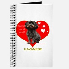 Havanese Valentine Woof Ebony Journal