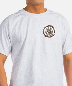 Celtic Stone: bear Paw Ash Grey T-Shirt