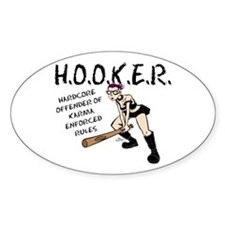 H.O.O.K.E.R. Oval Sticker