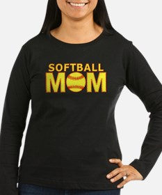 Softball Mom Yellow and Red Lace T-Shirt