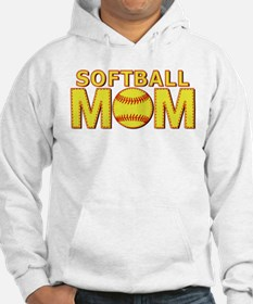 Softball Mom Yellow and Red Lace Hoodie