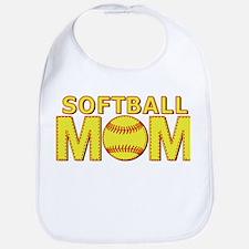 Softball Mom Yellow and Red Lace Bib