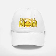 Softball Mom Yellow and Red Lace Baseball Baseball Cap