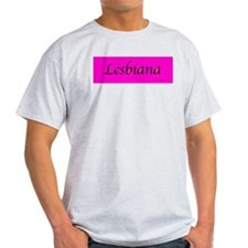 Lesbiana Ash Grey T-Shirt