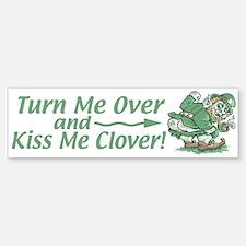 Kiss Me Clover Leprechaun Bumper Bumper Bumper Sticker