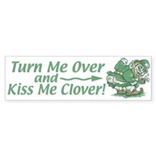 Kiss Me Clover Leprechaun Bumper Bumper Sticker