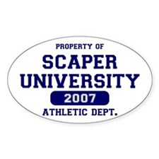 Scaper U Athletics Oval Decal