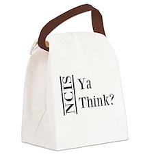 Ya Think Canvas Lunch Bag