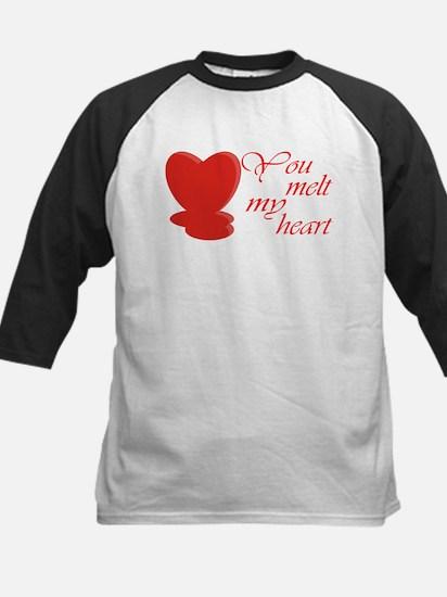 You Melt My Heart Kids Baseball Jersey