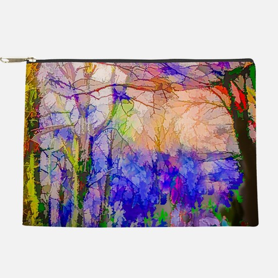 Nature In Stained Glass Makeup Pouch