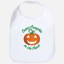 Cutest Pumpkin in the Patch - Halloween Baby Bib