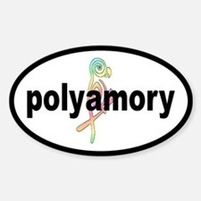 poly ... Oval Decal