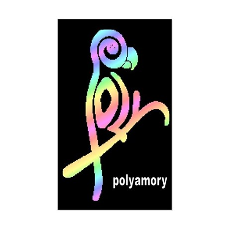 poly ... Rectangle Sticker
