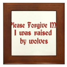 Raised by Wolves Framed Tile