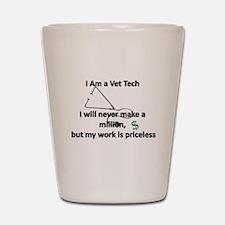 vet tech priceless Shot Glass