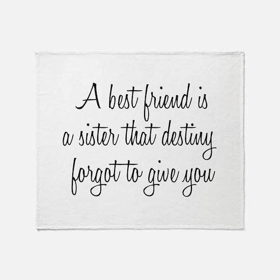 Best Friend Throw Blanket