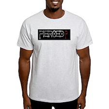 Pierced Ash Grey T-Shirt