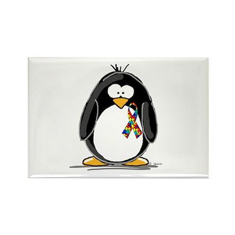 Autism Penguin Rectangle Magnet
