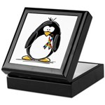 Autism Penguin Keepsake Box