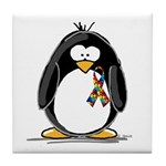 Autism Penguin Tile Coaster