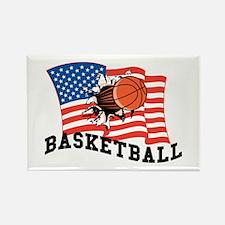 American Basketball Rectangle Magnet