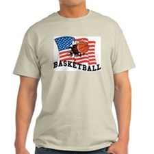 American Basketball Ash Grey T-Shirt