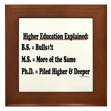 Higher Education Framed Tile