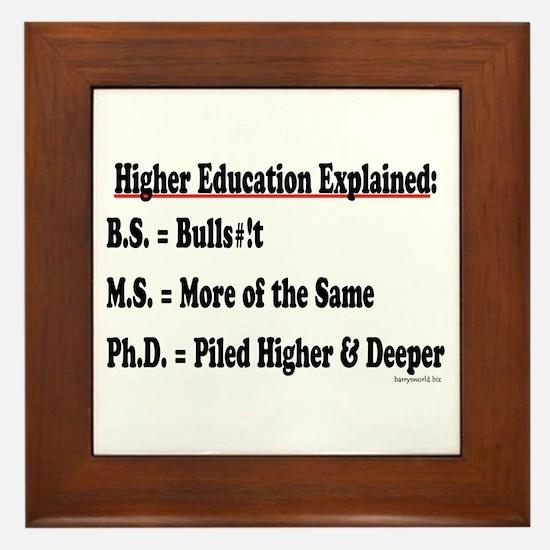 Higher Education Framed Tile