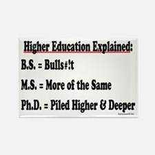 Higher Education Rectangle Magnet (10 pack)